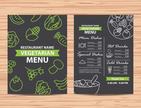 Restaurant vegetarian and vegan healthy menu design
