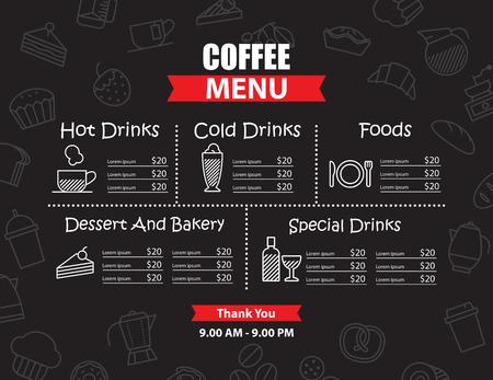 cafe menu: Restaurant and cafe menu design