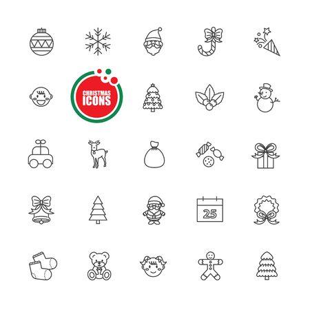 Christmas and Winter vector illustration set Vektorové ilustrace