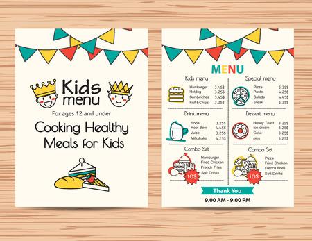 Resultado de imagen para kids menu design