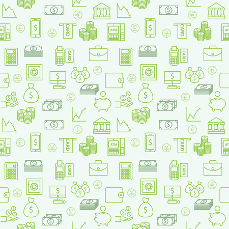 Seamless vector Wallpapers or background  Money, Finance and Investment