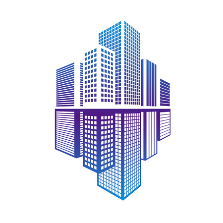 office building: Building icon and office