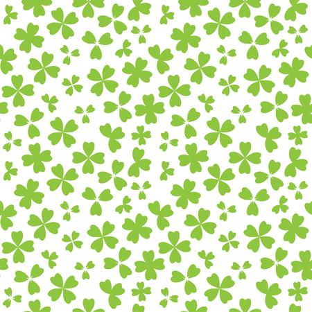 shamrock seamless: Irish shamrock leaves white background seamless Illustration