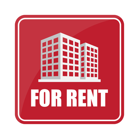 rent: Buildings icon and office Sell, rent icon sign Illustration