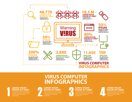 antivirus: Antivirus and security computer Infographic and icons