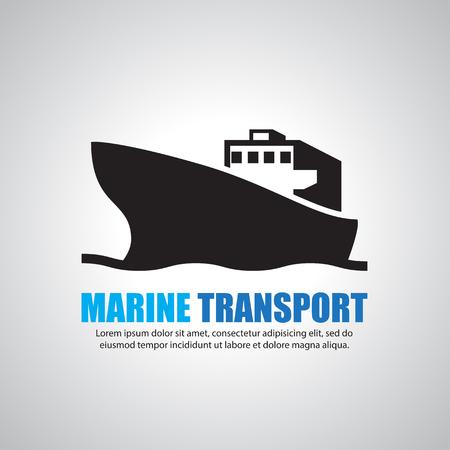 barge: Cargo ship Illustration