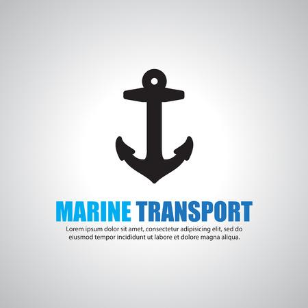 sea tanker ship: Anchor Symbol