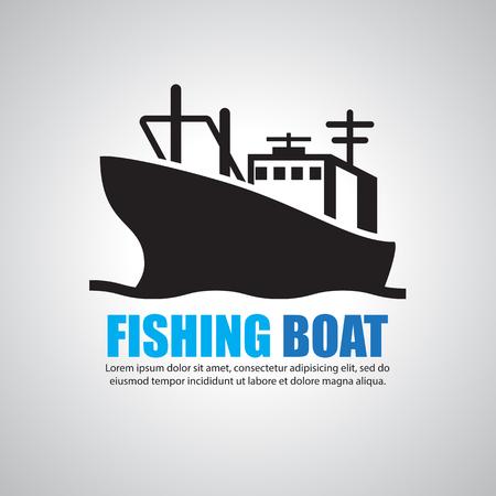 sea tanker ship: fishing boat