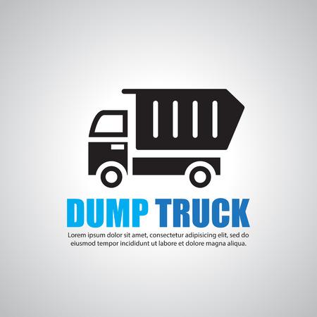 dumptruck: Dump truck, Symbol Illustration