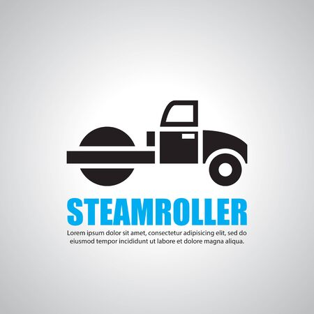 tractor warning sign: steamroller