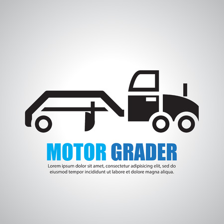 road grader: motor  grader,Symbol