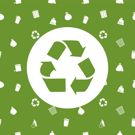 recycle waste: Recycle and environmental background, card print, seamless.
