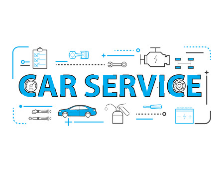 auto service: Car service,Auto mechanic working in garage, Repair service