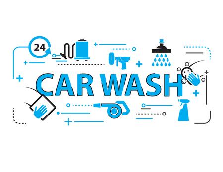 car seat: Car wash Background