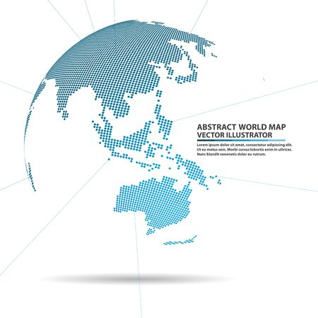 global network: abstract planet,  Global network connection, elements world map Illustration