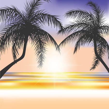 sensation: Summer Beach background Illustration