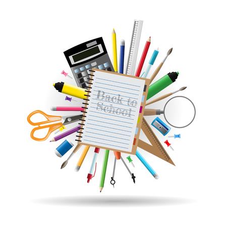 book store: Back to school background illustration Illustration