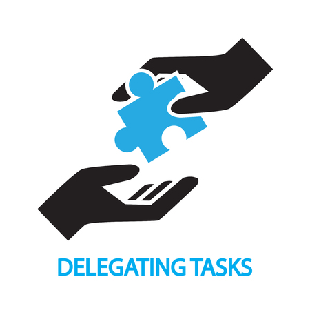 tasks: delegating tasks,Assignment, duty symbol Illustration