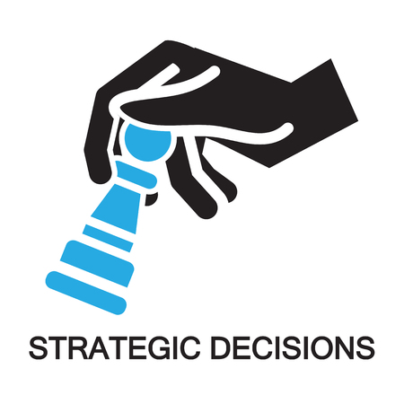 strategic decisions ,Checkmate concept ,icon and symbol