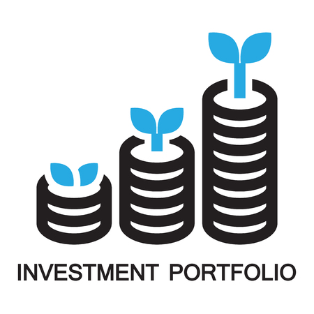 retire: investment portpolio,icon and symbol Illustration