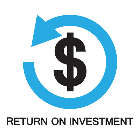 reimbursement: return on investment  ,icon and symbol