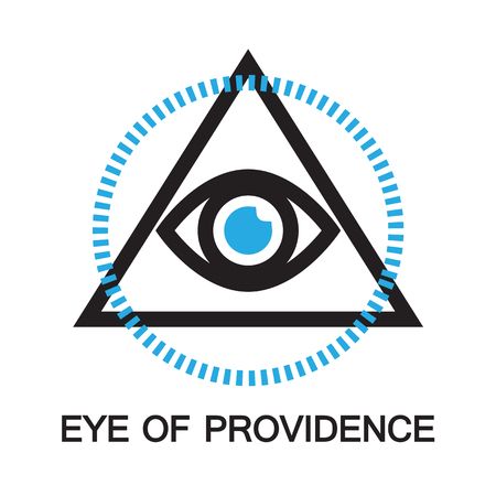 eye of providence: eye of providence ,icon and symbol Illustration