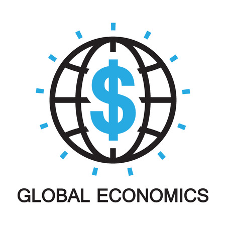 stock quotes: global economics ,icon and symbol