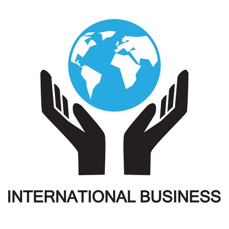 business symbol: business,world business ,icon and symbol Illustration