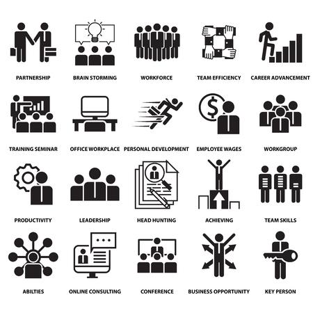 corporate management en business leader training icoon en symbool