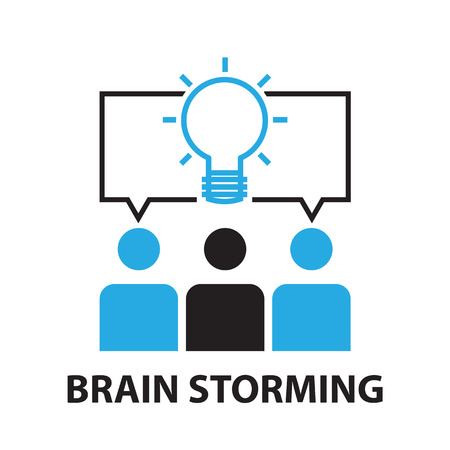 storming: brain storming for business concept , icon and symbol