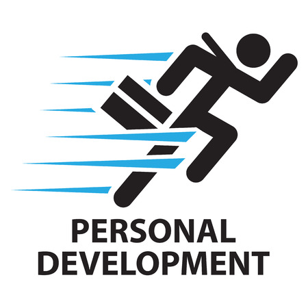 personal development: personal development ,icon and symbol Illustration