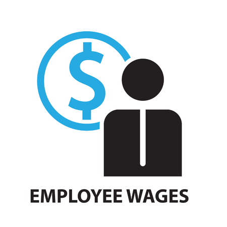 wages: employee wages for business concept , icon and symbol Illustration