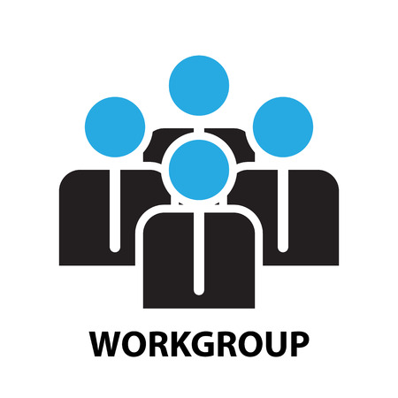 workgroup: workgroup for business concept , icon and symbol Illustration