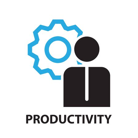 productivity for business concept , icon and symbol