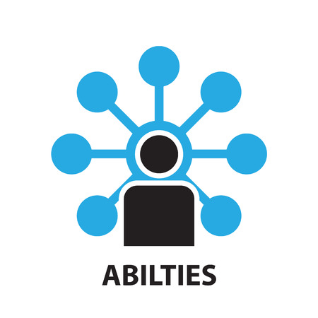 skill: team skill for business concept , icon and symbol Illustration