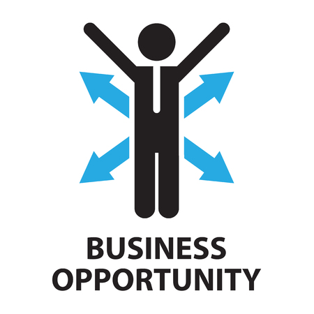 opportunity: business opportunity ,icon and symbol Illustration