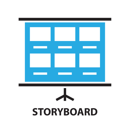 storyboard: film storyboard template ,icon and symbol Illustration