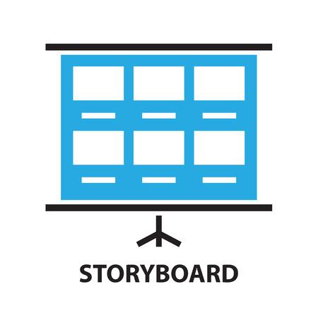 pellicola modello storyboard, icona e simbolo