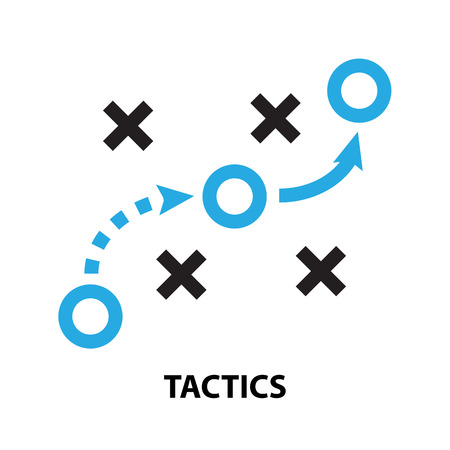 tactics business  concept  icon and symbol