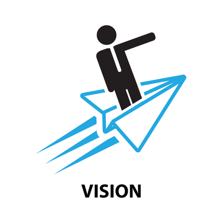 vision concept: vision  business  concept  icon and symbol Illustration
