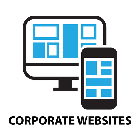 operating system: corporate websites business network concept  icon and symbol
