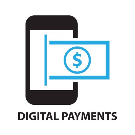 digital payments concept  icon and symbol 向量圖像