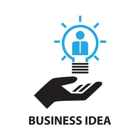 idea icon: business idea concept  icon and symbol