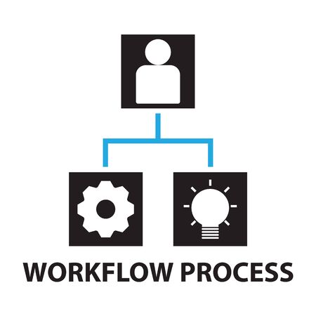productivity system: workflow process business concept  icon and symbol Illustration