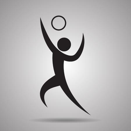 symbol sport: Volleyball Sport-Symbol und das Symbol Illustration
