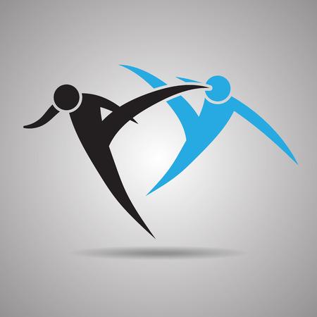 kyokushin: Martial arts, karate and judo icon and symbol Illustration
