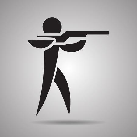 tiro al blanco: tiro del icono del deporte y el símbolo