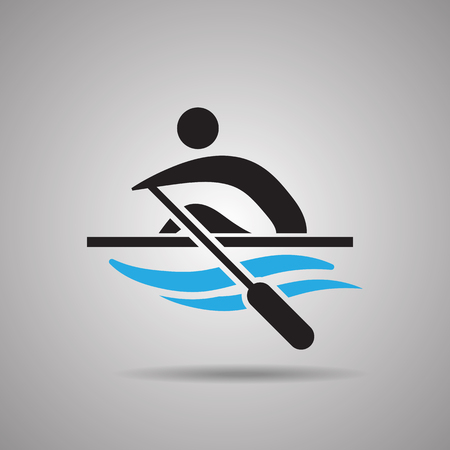 symbol sport: Kayak Kanu-Slalom Sport Symbole und Zeichen