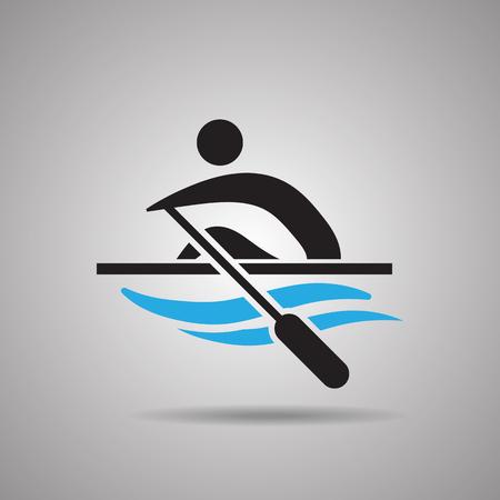 slalom: Kayak Slalom Canoe sport icon and symbol
