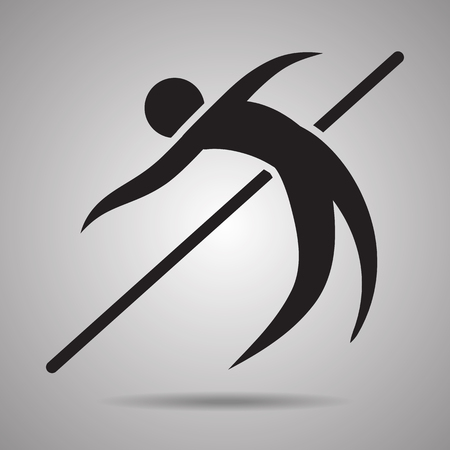 high jump: high jump sport icon and symbol